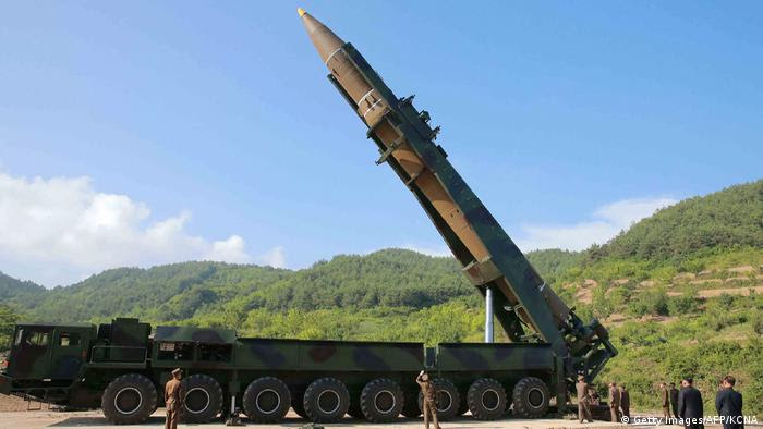 Un misil norcoreano Hwasong-14.