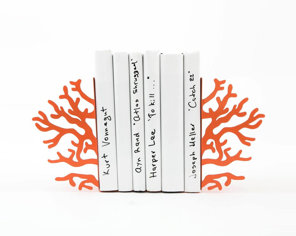 SALE  -  Bookends -Corals- unique, stylish and useful decor bookends - DesignAtelierArticle