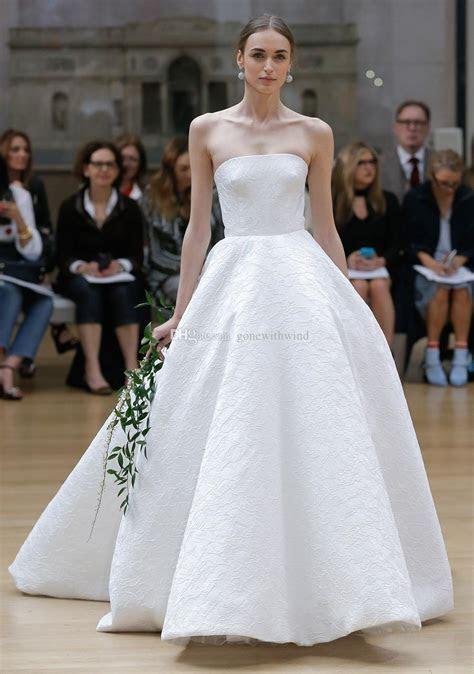 Simple Clean Ball Gown Wedding Dresses 2018 Oscar De La