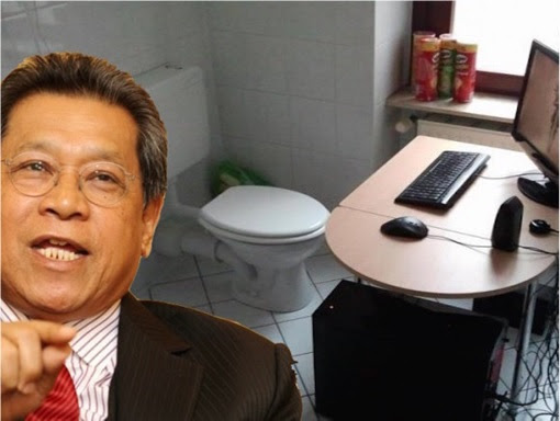Malaysia Dewan Rakyat Speaker Pandikar Amin Mulia Office With Toilet Attached