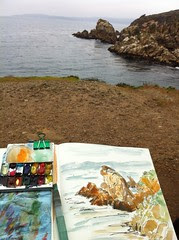 Drawing in Point Lobos