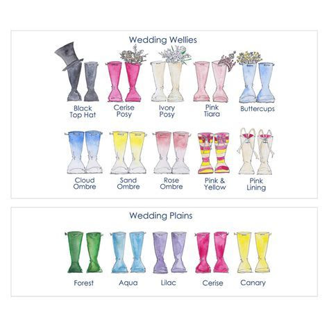 Personalised Wedding Welly Boot Print   MyGiftGenie