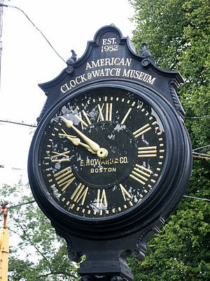 Streetclock by Howard in front of American Clo...