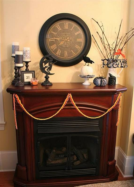50 Great Halloween Fireplace Mantel Decorating Ideas | Family Holiday