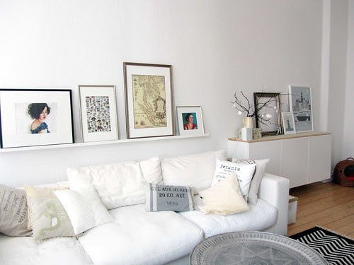 A glimpse of the living room