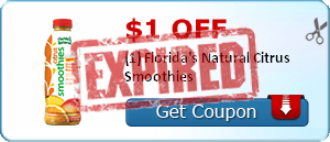 $1.00 off (1) Florida's Natural Citrus Smoothies