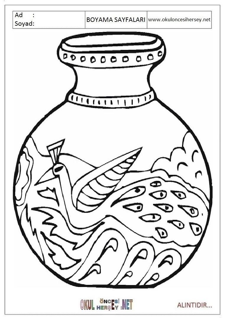 Vazo Boyama Sayfaları