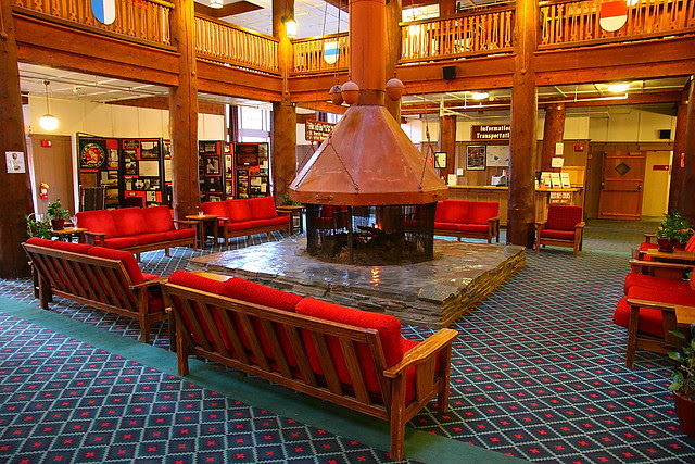 IMG_0493 Lobby of Many Glacier Hotel