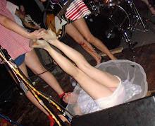 Bloody knees + panty flashing at Union Pool