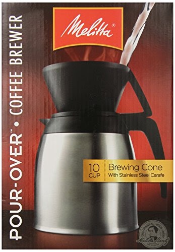 Coffee Consumers | Melitta Coffee Maker, 10 Cup Pour- Over Brewer with Stainless Thermal Carafe