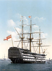 HMS Victory, the oldest warship still in commission in the world.