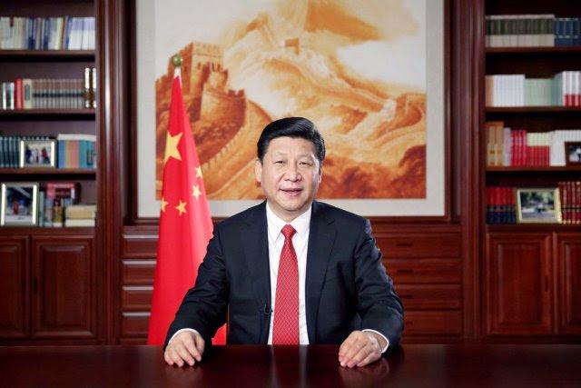 Le président chinois Xi Jinping, à la tête... (PHOTO LAN HONGGUANG, REUTERS/XINHUA)