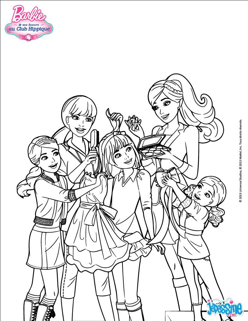 Coloriage De Barbie Et Ses soeurs