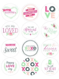 Free Printable Valentines Day Labels | Printable Labels and Tags ...