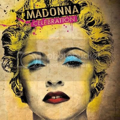 Madonna's fugged out album cover for her greatest hits collection 'Celebration'