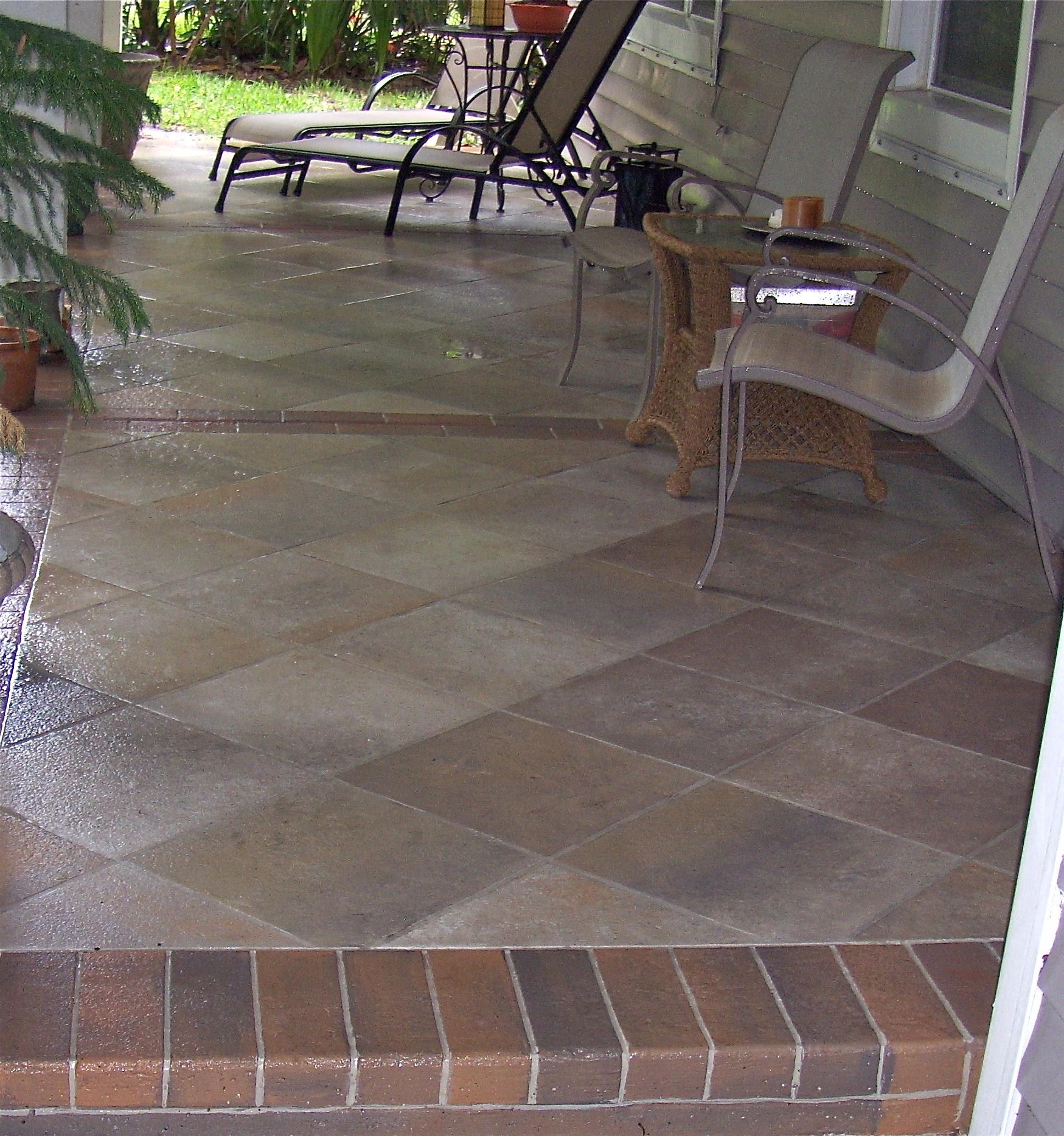 Concrete Designs Florida | slate tile