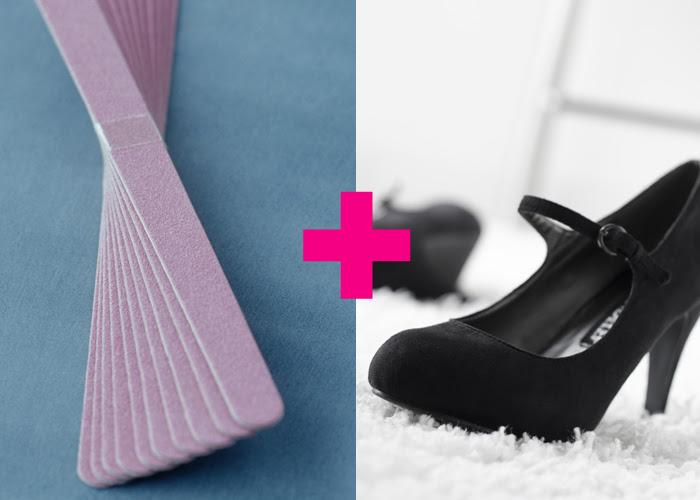 تنظيف الحذاء الشمواه بالمبرد