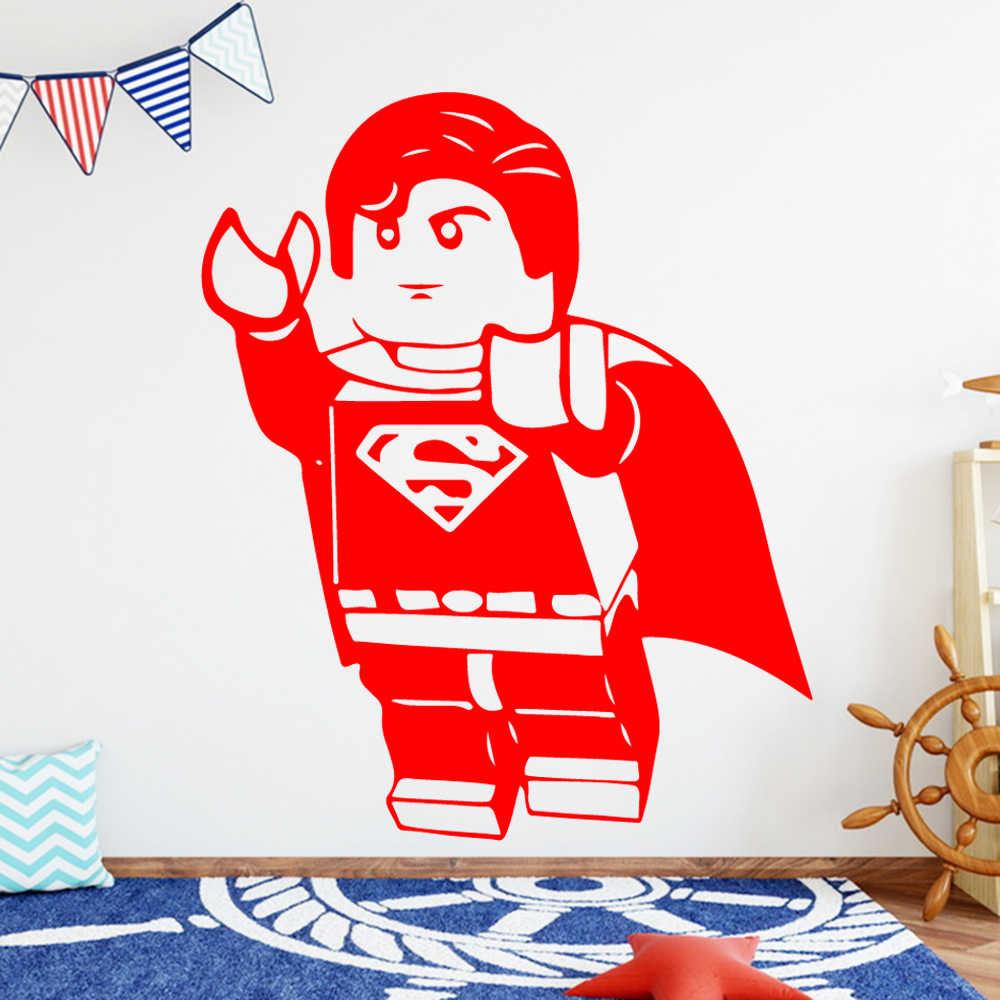 新しいレゴスーパーヒーロービニールの壁のステッカー子供ルームの