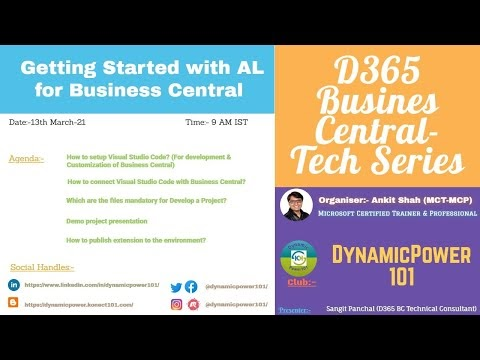 D365 Business Central Tech Series- Setup VS code and Deploy Extension
