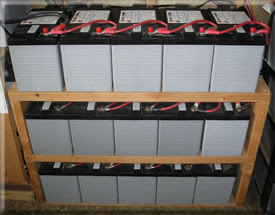 Home solar battery bank