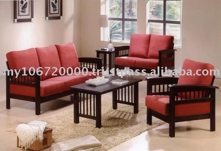 Hravey Wooden Sofa (9905),Wooden Sofa Set,Sofa Set,Living Room ...