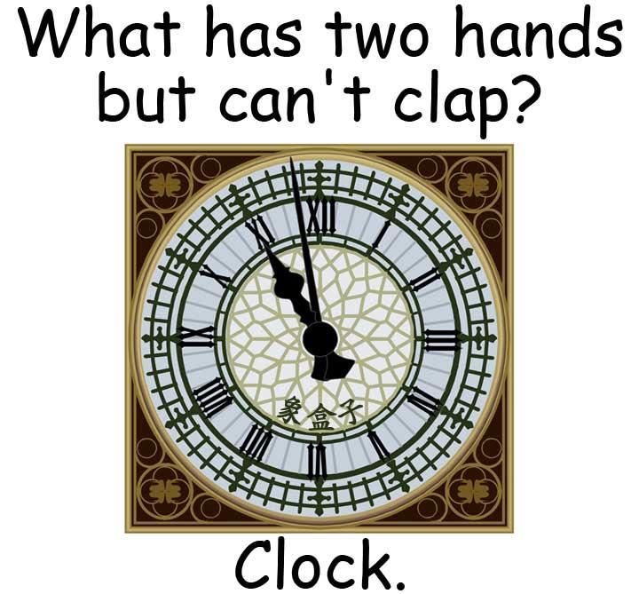 clock 時鐘 hands 手 指針