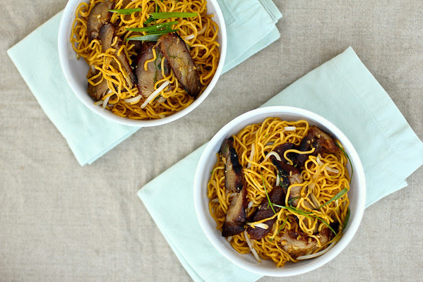 Barbecued Pork Lo Mein from Karen's Kitchen Stories
