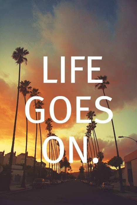 Quote Life Text Summer Sunset Life Goes On Goes On