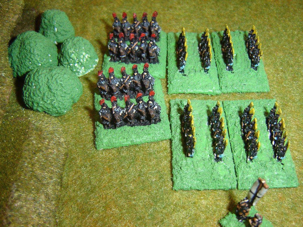 Routing Mori Cavalry taken in flank