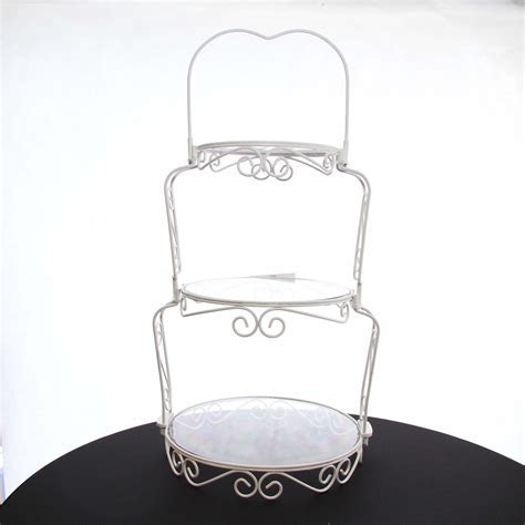 Cake Stand Wrought Iron White (3 Tier)   Harrisons