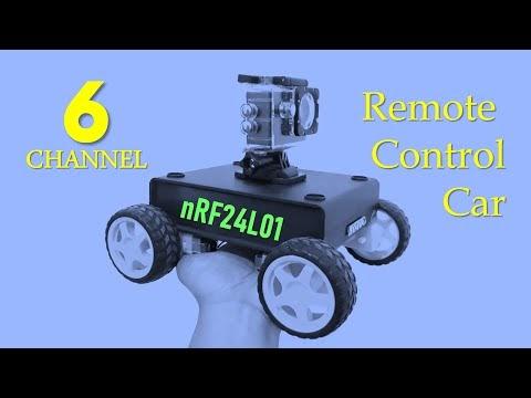 DIY Remote Control Car 6 Channel nRF24L01 Arduino