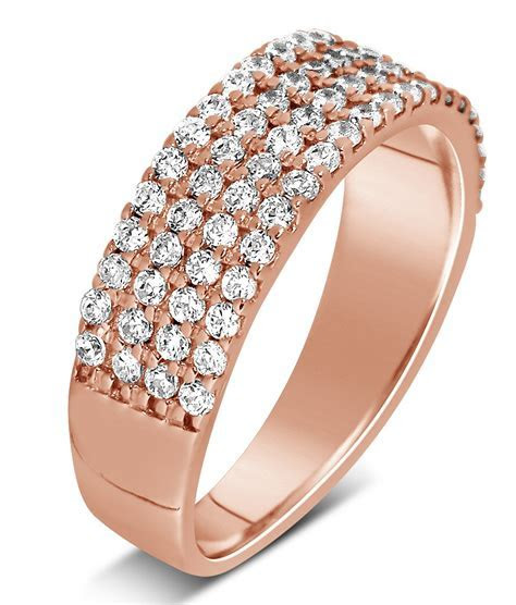 Unique 4 Row 1 Carat Round Diamond Wedding Ring Band in