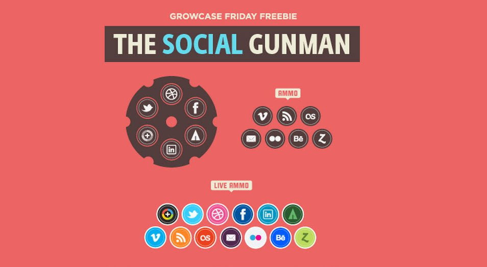 The Social Gunman Icons