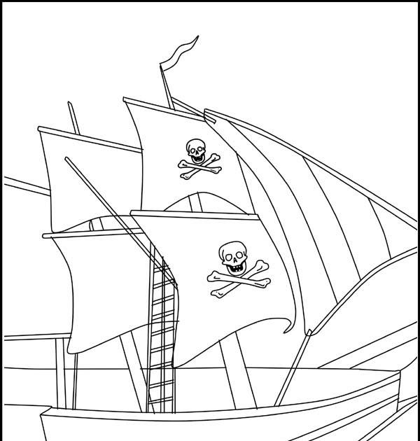 piratenschiff malvorlagen