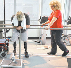 Soldado em reabilitação: médicos militares descobriram o fenômeno (JOHNMOORE/GETTY IMAGES/AFP - 7/8/12)
