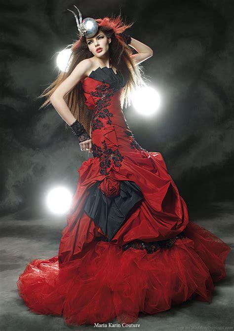 Black and Red Wedding Dresses Design   Wedding dresses