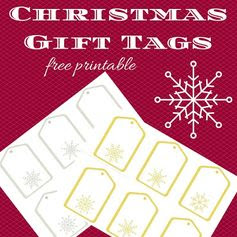 Keeping it Real: Christmas gift tags - free printable