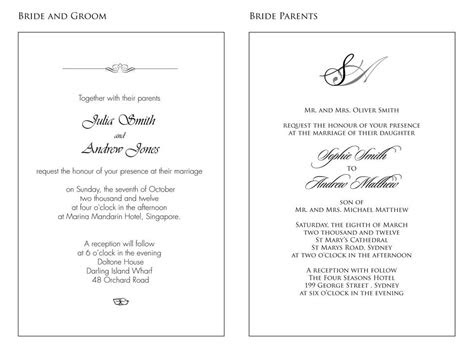 sample wording wedding invitations wedding design ideas