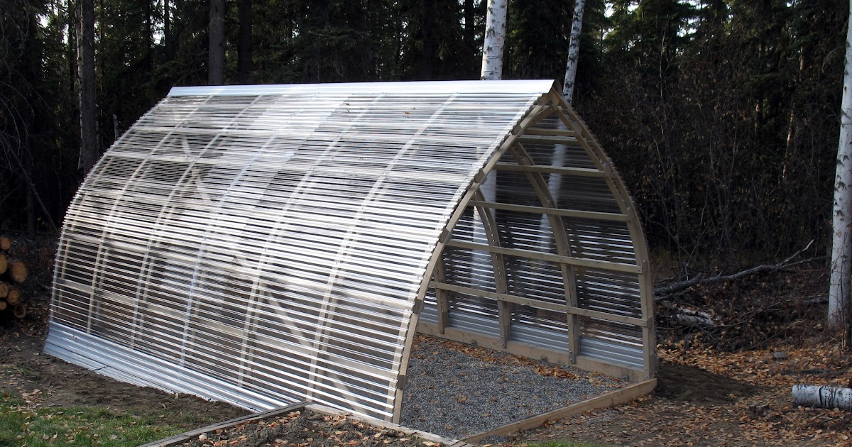 Shedme: Bow-roof shed/greenhouse