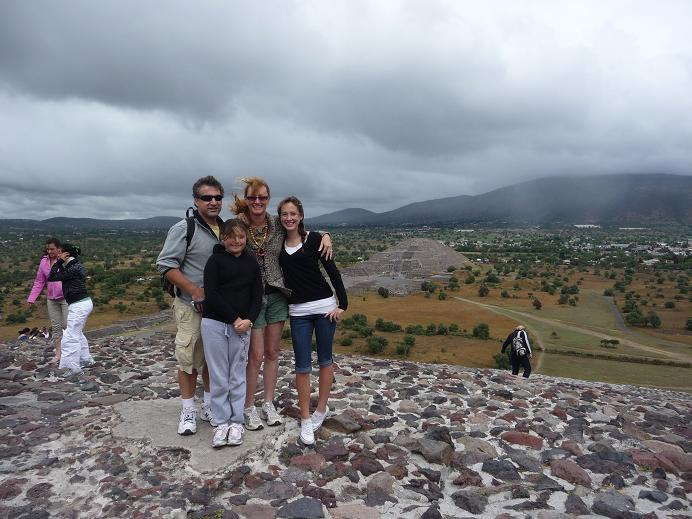 Teotihuacan-on top of the Temple of the Sun
