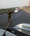 Nigerian cadets cause traffic jam on expressway, say 'civilians can't do anything' (video)