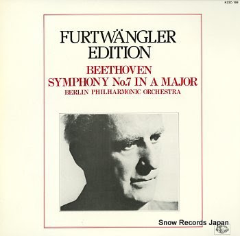 FURTWANGLER, WILHELM beethoven; symphony no.7 in a major