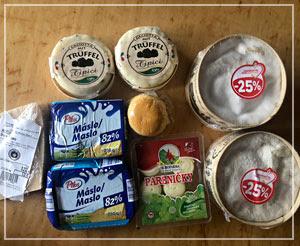 こちらはスロヴァキアのチーズとかバターとか他の国のチーズとか