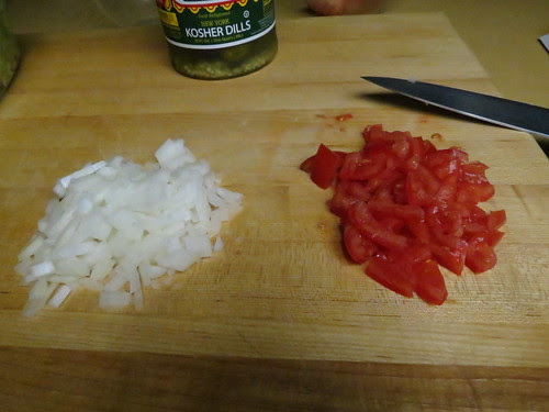 onions and tomatoes chopped