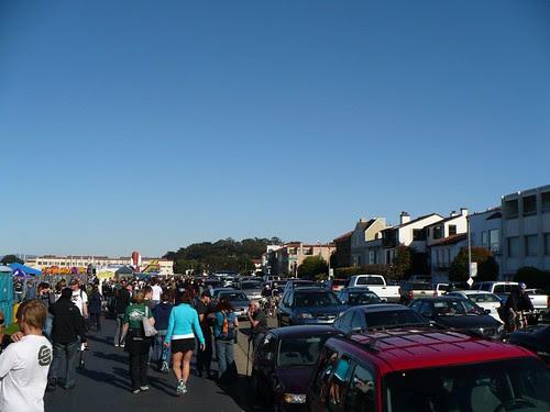 Marina Street During Fleet Week Traffic