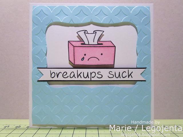 Breakups Suck Card