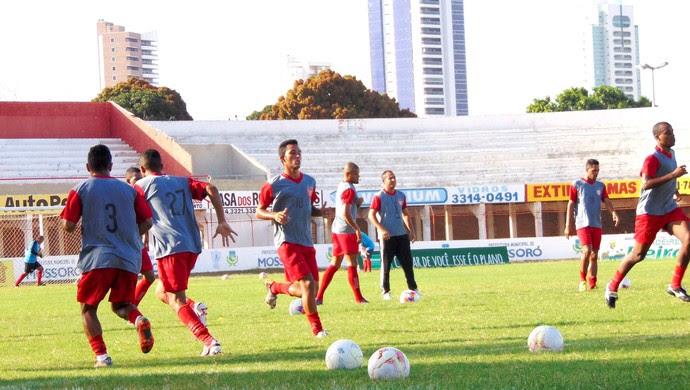RN - Potiguar de Mossoró treino (Foto: Marcelo Diaz/Divulgação)