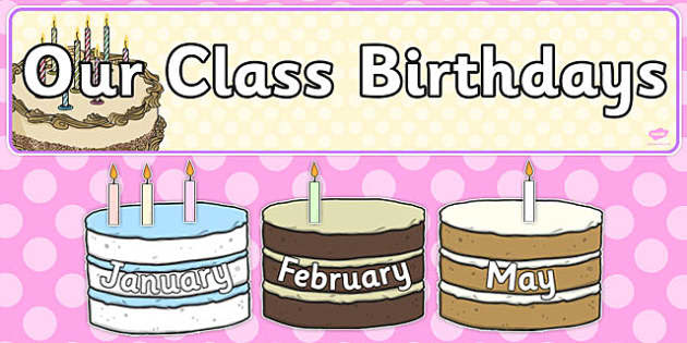 Editable Birthday Display Set Cakes - editable, birthday