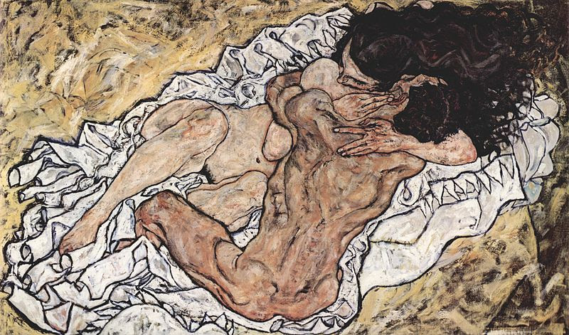The embrace (Lovers II), 1917