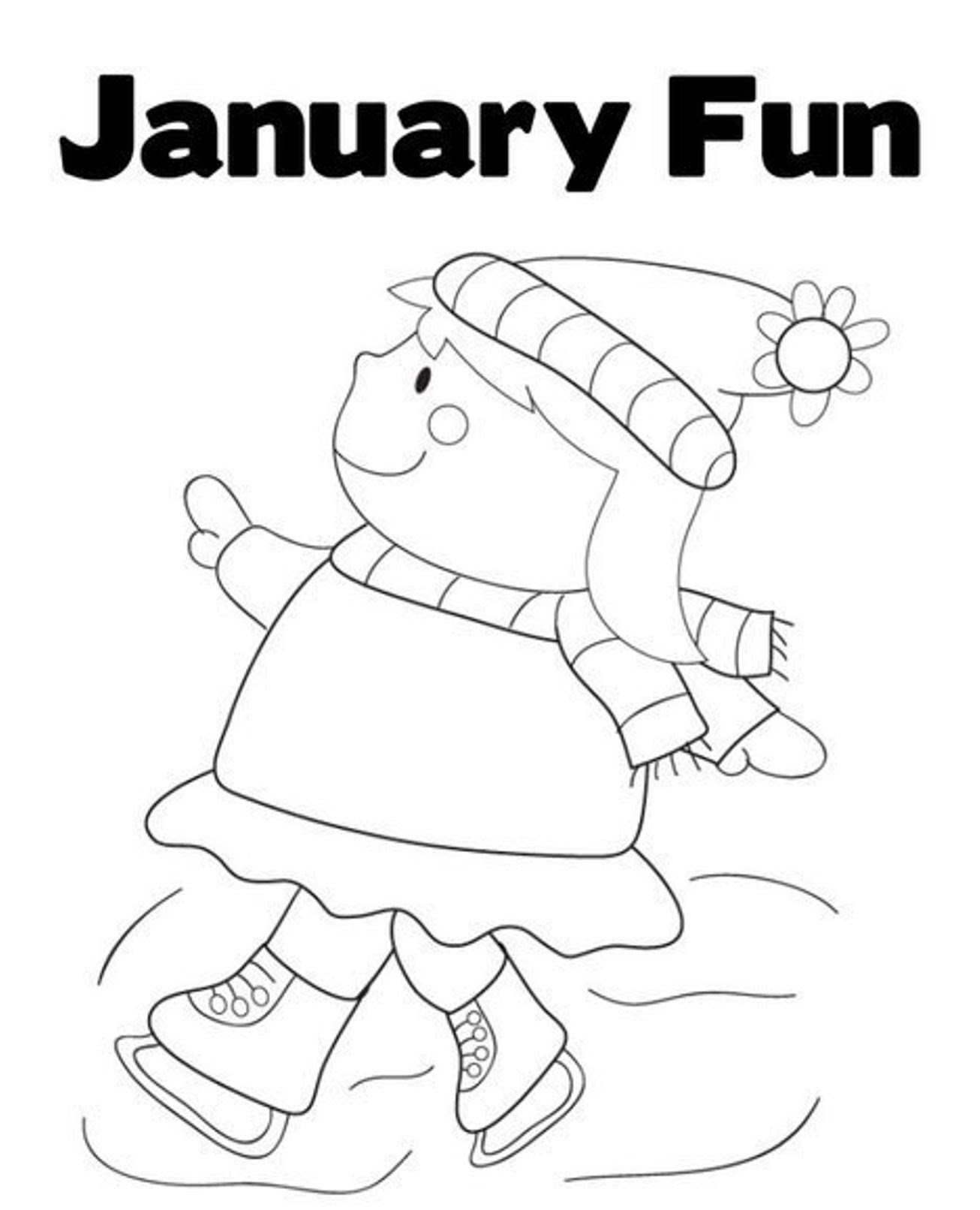 Free January Coloring Pages Printable Sketch Coloring Page